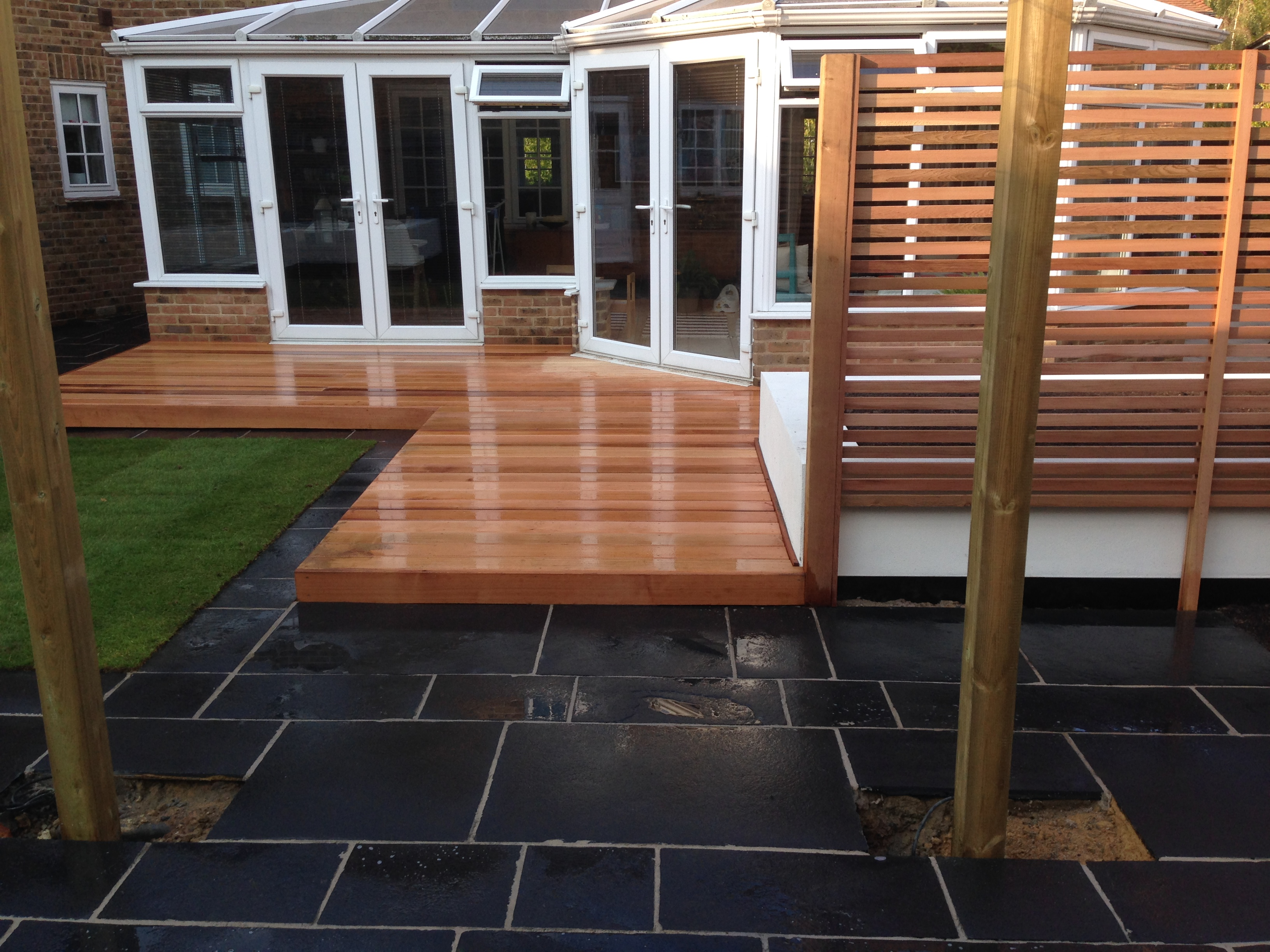 High gloss decking.