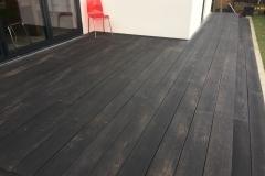 Dark wood decking.