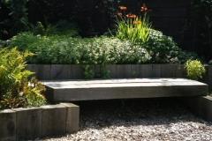 Wooden decking bench seat