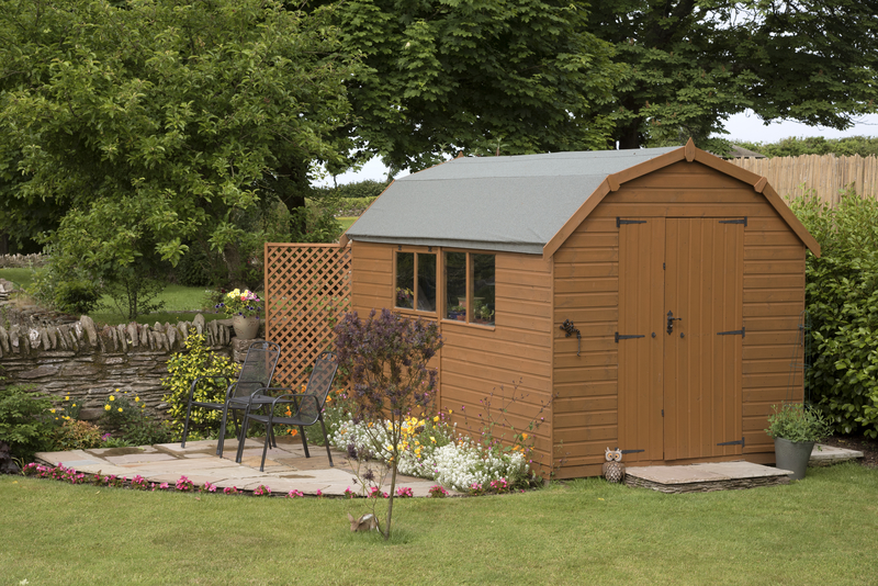 garden shed and seating