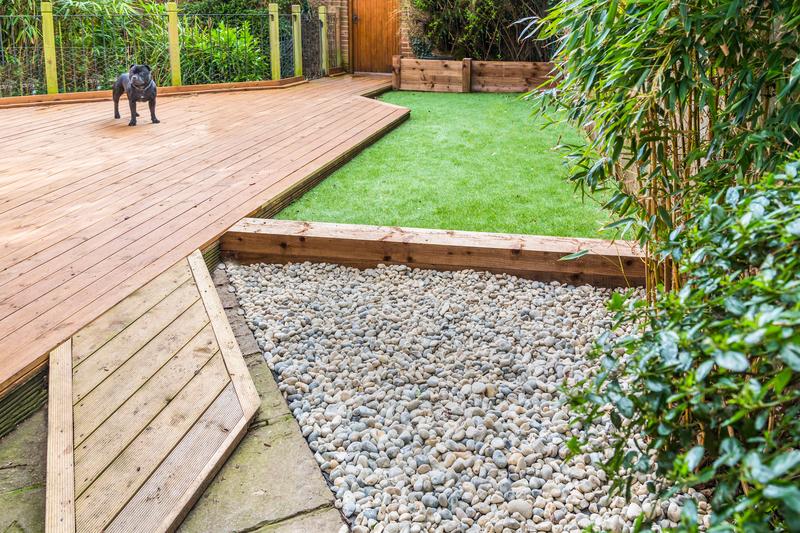 garden wit h wooden decking