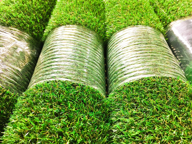 artificial grass wrapped