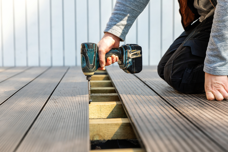 drilling decking down